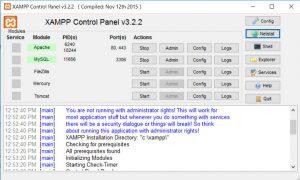 XAMPP Control Panel Image