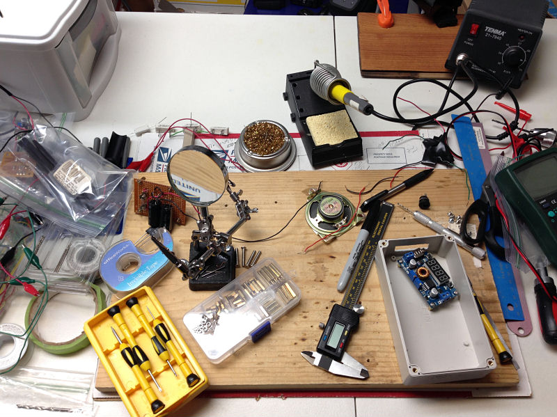 The electronics table